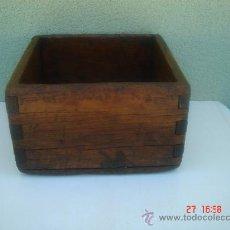 Antigüedades: MEDIO CELEMÍN (1/2), EN . 18X18X10,5 CMS.. Lote 26852459