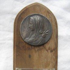 Antigüedades: ANTIGUA BENDITERA MADERA Y CRISTAL. Lote 14079672