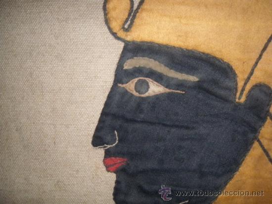 Antigüedades: TAPIZ EGIPCIO TUTANKHAMEN - Foto 2 - 26576277