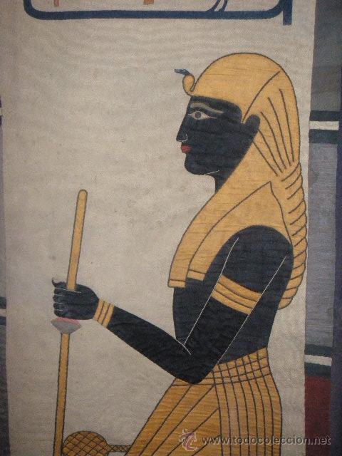 Antigüedades: TAPIZ EGIPCIO TUTANKHAMEN - Foto 5 - 26576277