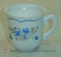 TAZA DE CAFÉ DECORADA CON MOTIVOS FLORALES MARCA ARCOPAL-MEDIDA 6*6 CMS. (Antigüedades - Porcelanas y Cerámicas - Otras)