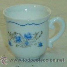 Antigüedades: TAZA DE CAFÉ DECORADA CON MOTIVOS FLORALES MARCA ARCOPAL-MEDIDA 6*6 CMS.. Lote 26320150