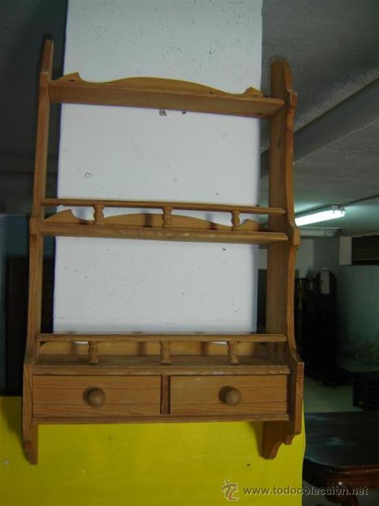 Estanteria de cocina antigua madera comprar repisas - Estanterias de cocina ...