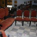 Antigüedades: TRESILLO Y SILLAS ALFONSINAS REF.3686. Lote 26259635