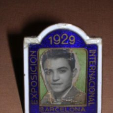 Antigüedades: MARCO BRONCE ESMALTADO, EXPOSICION INTERNACIONAL DE BARCELONA 1929. Lote 14228081