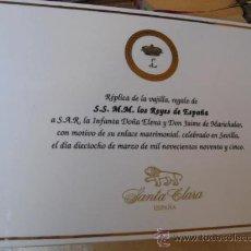 Antigüedades: PLACA PORCELANA SANTA CLARA -REPLICA DE REGALO VAJILLA REYES ESPAÑA EN BODA INFANTA ELENA/MARICHALAR. Lote 14230083