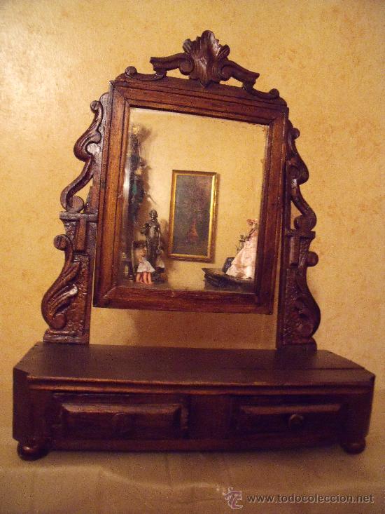 Centenario espejo de tocador todo madera tallad comprar for Todo espejos