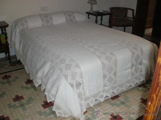 Fantastica colcha realizada en tela de lino comprar - Tela para colchas ...