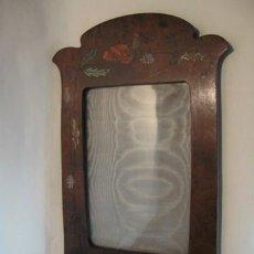Antigüedades: PORTARRETRATOS ART NOUVEAU. FF.SG.XIX. 1890 - 1910. MADERA DE RAIZ . 25 X 17 CM. CRISTAL. Lote 14322250
