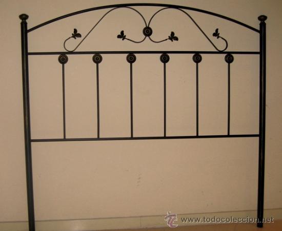bonito cabecero de cama de 1`35 de hierro y f - Comprar Camas ...