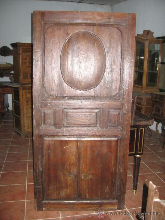 PUERTA DE PRINCIPIOS DE SIGLO XIX EN MADERA DE PINO. (Antigüedades - Varios)