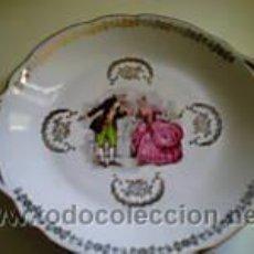 Antigüedades: PLATO DE SERVICIO EN PORCELANA FRANCESA SELLO CHAUVIGNY. Lote 27326426