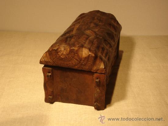 Antigüedades: BAUL PEQUEÑO DE MADERA - Foto 3 - 27243435