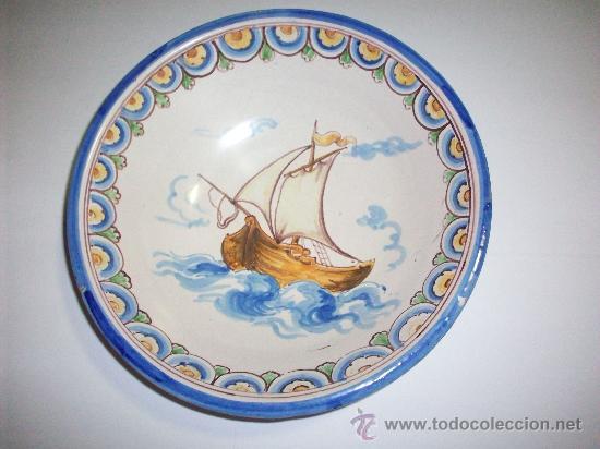 PLATO TALAVERA NIVEIRO ALFAR DEL CARMEN (Antigüedades - Porcelanas y Cerámicas - Talavera)