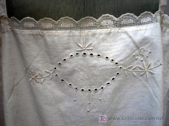 Antigüedades: Antiguo camisón bordado a mano - Foto 5 - 26919575