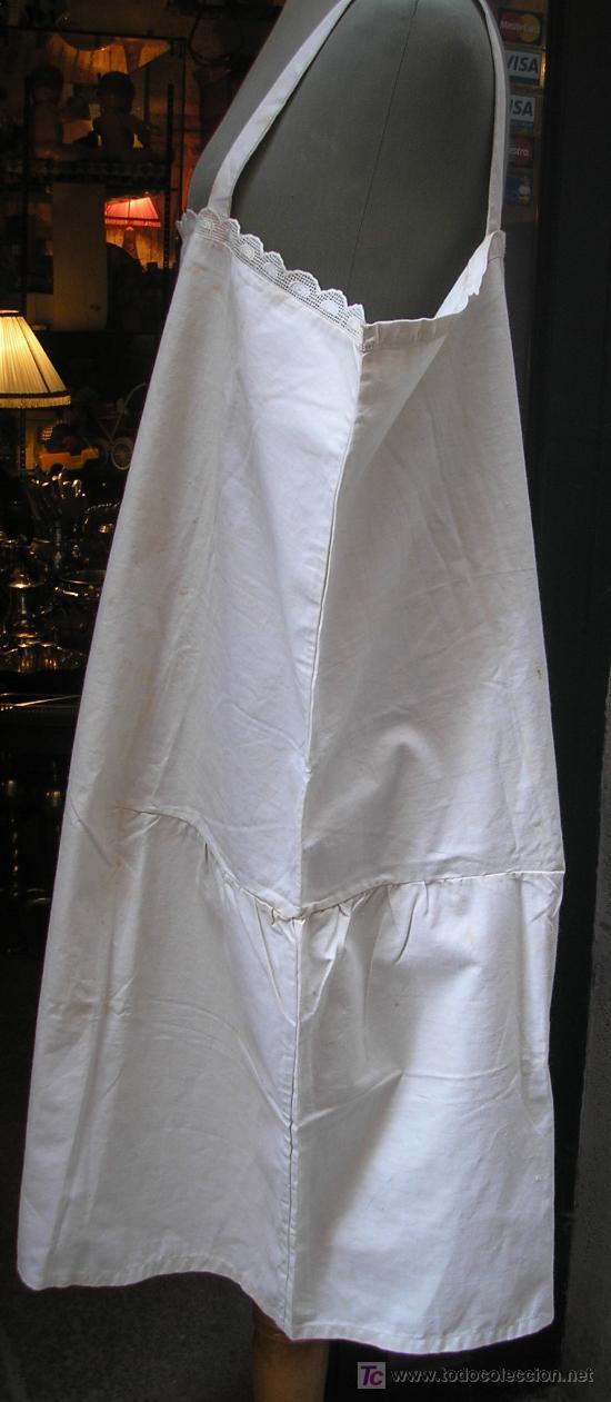 Antigüedades: Antiguo camisón bordado a mano - Foto 2 - 26919575