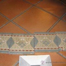 Antigüedades: LOTE 4 BALDOSAS HIDRAULICAS 16.5X16.5 CM - 5 KG LAS 4, MENSAJERÍA 6.50€. Lote 14519376