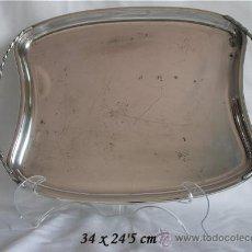 Antigüedades: BANDEJA DE ALPACA CORTASA SIMPLE Y ELEGANTE. Lote 24083288