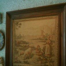 Antigüedades: TAPIZ HOLANDES ENMARCADO SIGLO XIX. Lote 26266534