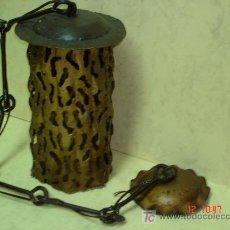 Antigüedades: FAROL RUSTICO DE FORJA ARTESANAL . Lote 26254990