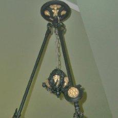 Antigüedades: PROMO. SEÑORIAL Y PALACIEGA LAMPARA ANTIGUA ESTILO RENACENTISTA, 130 CMS. Lote 25316394