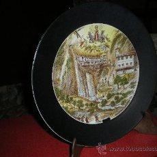 Antigüedades - PLATO DE PORCELANA.COVADONGA. - 14676177