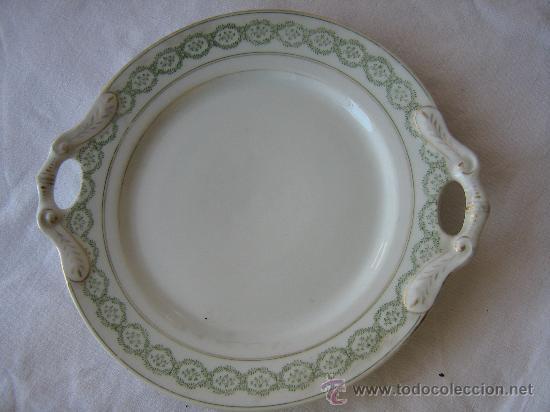 ANTIGUA BANDEJA DE PORCELANA (Antigüedades - Porcelanas y Cerámicas - Otras)