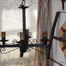 Antigüedades: LAMPARA DE FORJA . Lote 26990826