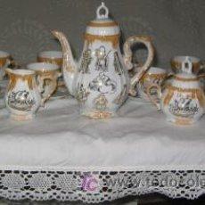 Antigüedades: JUEGO DE CAFÉ DE PORCELANA JAPONESA. Lote 27468545