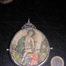 Antigüedades: RELICARIO DE PLATA S. XVIII (NO COPIA)10,5X8 CM.VER FOTOS ADICIONALES-. Lote 26801504