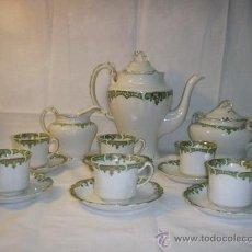 Antigüedades: JUEGO DE CAFE DE PORCELANA INGLESA DE WH GRINDLEY FINALES SIGLO XIX. Lote 26495567