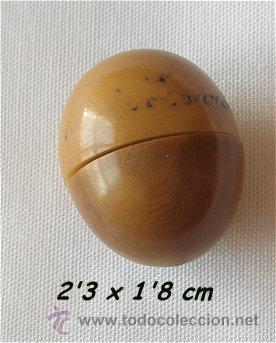 Antigüedades: MINI ROSARIO ANTIGUO LOURDES CON CAJITA DE NUEZ DE COROZO - Foto 2 - 26990817