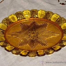 Antigüedades: BANDEJITA DE VIDRIO TALLADO. Lote 26963504