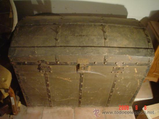 Antigüedades: ANTIGUO BAÚL - Foto 2 - 27018219