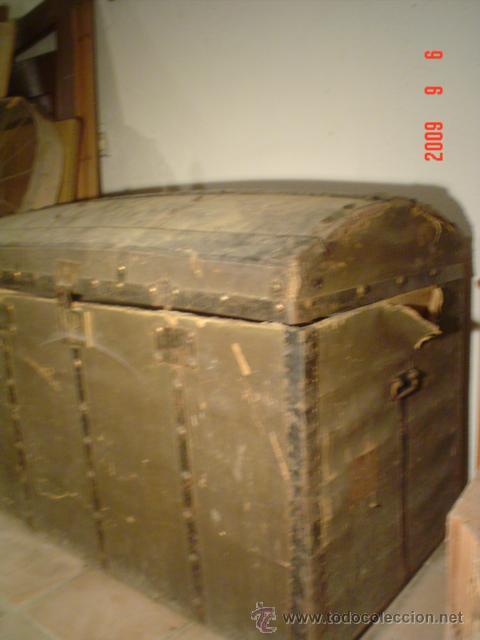 Antigüedades: ANTIGUO BAÚL - Foto 3 - 27018219