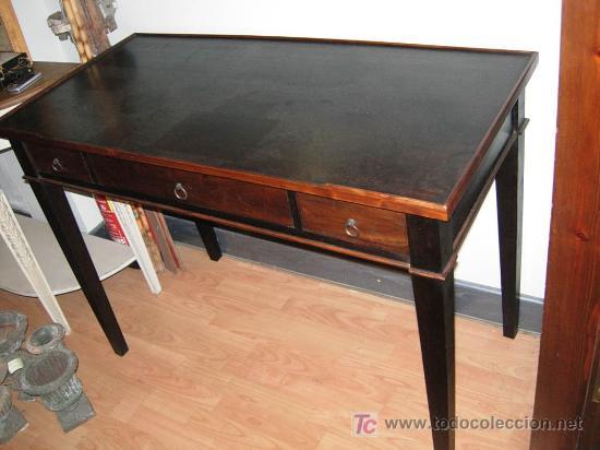 Escritorio mesa de despacho bureau en madera comprar - Mesas de escritorio antiguas ...