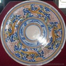 Antigüedades: PLATO GRANDE HONDO. 38 CM DIÁMETRO. Lote 27435928