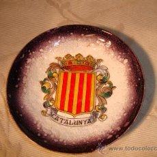 Antigüedades: ANTIGUO PLATITO RECUERDO DE CATALUNYA.. Lote 14901083