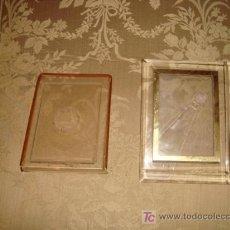 Antigüedades: PAREJA DE MARCOS DE METRAQUILATO , 17 X 12 Y 19 X 15 CM. Lote 14952085