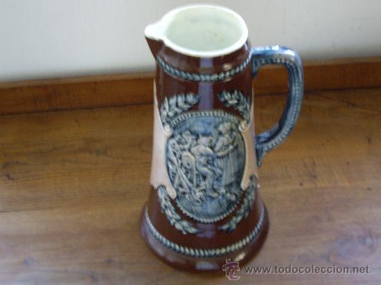 JARRA DE CERVEZA ALEMANA (Antigüedades - Porcelana y Cerámica - Alemana - Meissen)