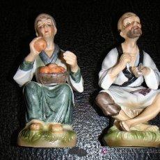 Antigüedades: PAREJA DE FIGURAS DE PORCELANA. Lote 27064062