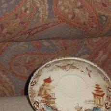 Antigüedades: PLATO DE TE O CAFÉ. MADE IN SAIGÓN. UN SIGLO DE ANTIGUEDAD.. Lote 56050029