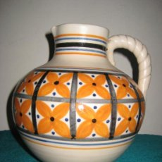 Antigüedades: JARRON TIPO TINAJA DE TALAVERA (FIRMADO CHACON)PINTADO A MANO .CERAMICA.. Lote 26807788