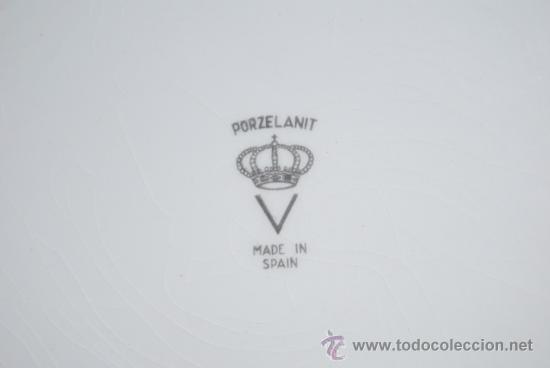 Antigüedades: PLATO DE PORCELANA DECORADO - Foto 4 - 26292324