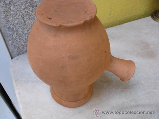 Antigüedades: ANTIGUA CHOCOLATERA BARRO SIN USO - APROX 1950 21 CM ALTO + INFO - Foto 2 - 16233121