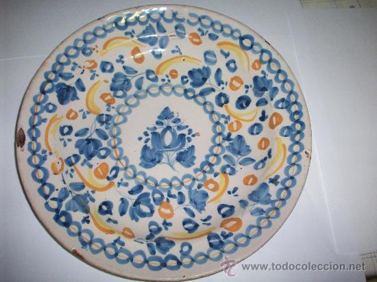 PLATO MANISES SIGLO XIX (Antigüedades - Porcelanas y Cerámicas - Manises)