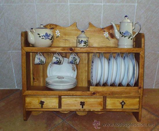 Platero de madera con 3 cajones mueble mue comprar for Mueble platero