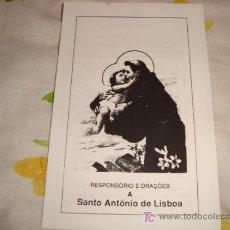 Antigüedades: SANTO ANTONIO DE LISBOA, RESPONSORIO . Lote 15096996