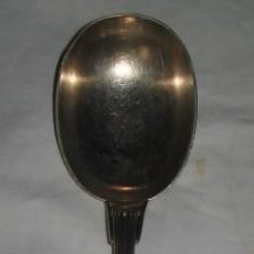 Antigüedades: CUCHARA SALSERA DE ALPACA. Lote 21586702