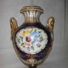 Antigüedades: JARRON DE PORCELANA MARCADO HISPANA. Lote 27172307